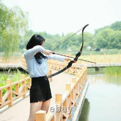 60lbs 60 Archery Recurve Bow Kit Adult Hunting Set Arrows Bags Outdoor Sport