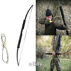 60lbs 60 Portable Folding Bow Black Hunting Recurve bow Archery Longbow Target