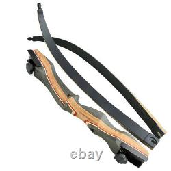 62'' Archery Recurve Bow Takedown 30-50lbs Wooden Riser Target Hunting Shooting