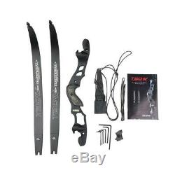 62 Archery Takedown Recurve Bow 3055lbs ILF Right Hand Hunting Target Practice