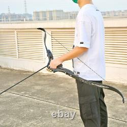 62 ILF Recurve Bow 19 Riser 30-60lbs Limbs Archery American Hunting Shooting