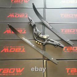 62 ILF Recurve Bow 19 Riser 30-60lbs Limbs Takedown Archery American Hunting