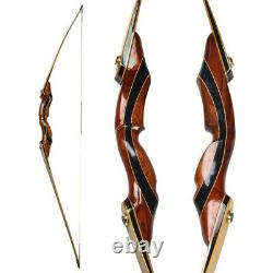 62 Longbow 25-55lbs Takedown Recurve Bow Traditional Wooden Archery Hunting Bow