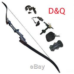 70 Archery Recurve Bow Longbow Adults Takedown Hunting Target Beginner Practice