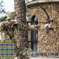 Adjust 30-40lbs Compound Bow Archery Hunting Shooting Target Practice Bow Black