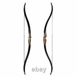 Airobow One Piece Recurve Bow 54in Professional Hunting Longbow 50LBS Right