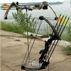 Archery 20Lbs Youth Compound Bow Hunting Set Right Hand Junior Target Black Bow