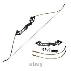 Archery 30lb 57 Takedown Recurve Bow Set 12x Arrows Right Hand Hunting Adult