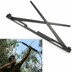 Archery 40-60lbs Folding Longbow Takedown Bow Alloy Riser Hunting Target Black