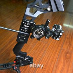 Archery 5 Pin Compound Bow Sight Micro Adjustable Aluminum Bow Shooting Hunting