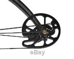 Archery Black Compound Bow 30-70lbs RH Riser Arrow Rest Hunting Set 16-31'' Draw