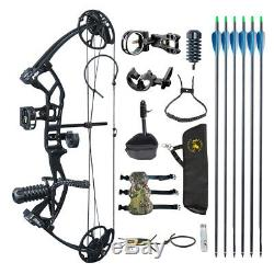 Archery Compound Bow Arrows 10-40lbs Adjustable Beginner Training Shooting Hunt
