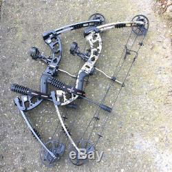 Archery Compound Bow Arrows Set 30-70lbs Sight Stabilizer Bow Hunting Shooting