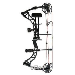 Archery Compound Bow Kit 45-70lbs, Hunting Fiberglass Arrows, Quiver, Sight, Rest