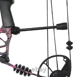 Archery Compound Bow Set 40-60lbs Adult Hunting Carbon Arrows Right Hand Target