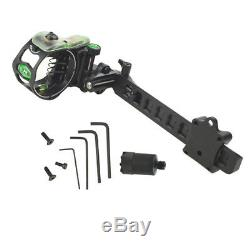 Archery Compound Bow Sight Lock Micro 5 Pin. 019 Adjustable Long Pole Hunting