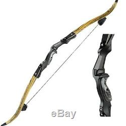 Archery Recurve Bows 60lbs Takedown Bow Hunting Targeting 60'' Right Hand