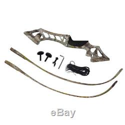 Archery Recurve Bows Set 45LBS 57 Takedown Shooting Target Right Handed Outdoor