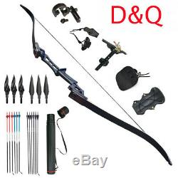 Archery Recurve Takedown Bows Sets 60LBS Hunting Target 57 Outdoor Practice