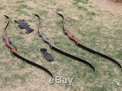 Archery Takedown Recurve Bow Adult Hunting Right Hand Wooden Bow Riser 30-60Lbs