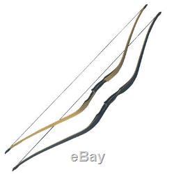 Archery Traditional Recurve Bow Longbow Handmade Laminated Horsebow Hunting 60