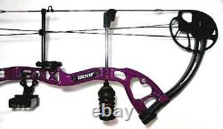 Bear CRUISER Lite Purple Women's Bow with 6 Arrows RH