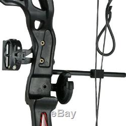 Black Archery Compound Bow Hunting Right Hand Bow Youth Practice Target 12-26lbs