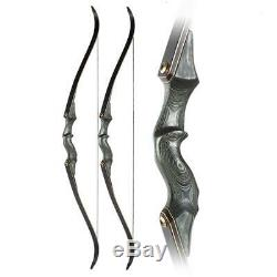 Black Hunter Archery Takedown Recurve Bow 60,35lbs Right Hand Hunting Target