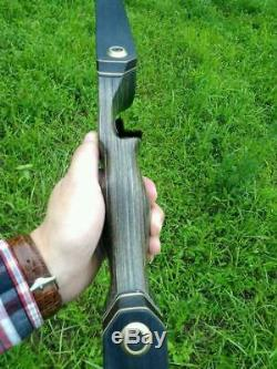 Black Hunter Takedown Recurve Bow Archery Hunting Bow 60,50lbs Bamboo Core Limb