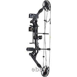 Bow Hunting Compound Archery Rh Hand Right Arrow Kit Set Arrows Black Toys NEW