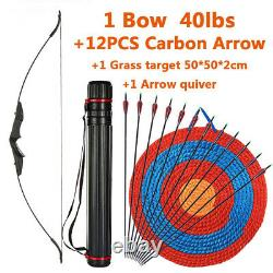 Bow Left Right Hand Universal Recurve Bow For Children Adults Archery Hunting