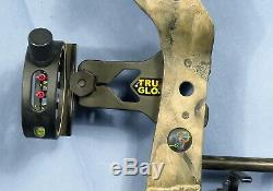 Bowtech Tomkat Compund Hunting Bow Right Handed Camo Tru Glow Sight withCase