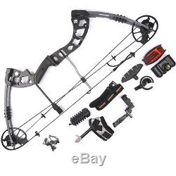 Camo 30-70lbs Jun Xing Archery M125 Compound bow Hunting Game Outdoor whole set