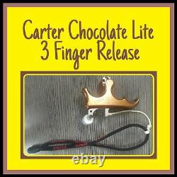 Carter Chocolate Lite 3 Finger Release bow deer hunting used VERY NICE