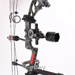 Compound Bow 1 Pin Sight Micro Adjustable Archery Right Hand Shooting Hunting