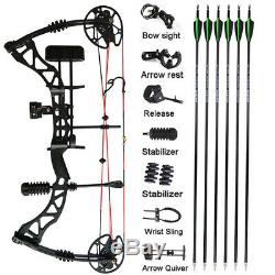 Compound Bow Arrow Kit 30-70lbs 329fps Archery Hunting Shooting Target