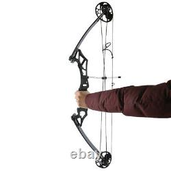 Compound Bow Arrows Set 35-50lbs Adjustable Aluminum Archery Hunting Shooting