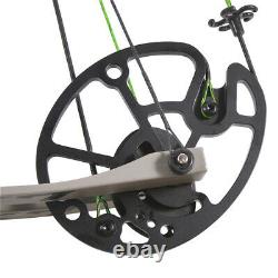 Compound Bow Carbon Arrows Set 30-70lbs Adjustable Archery Hunting Let Off 80%