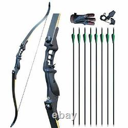 D&Q Bow and Arrow Set Adult Recurve Bow Hunting Bow Right Hand 52 inches