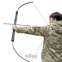 Folding Recurve Bow Aluminum Takedown Longbow Archery Hunting Target Practice