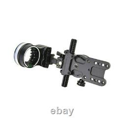 Hunting Archery RightHand 5 Pin Compound Bow Sight Micro Adjustable Pointer Lens