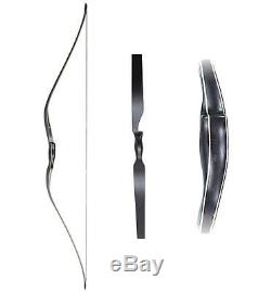 Hunting Recurve Bow 60 Longbow One Piece Wood Bow Archery shooting 3D Targets