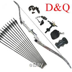 Hunting Recurve Bow Sets Archery for Adult 40LBS 57 Takedown & Fiberglass Arrow