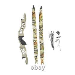 ILF 64'' Archery Recurve Bow 30-60lbs 21'' Bow Riser Target Hunting Shooting RH