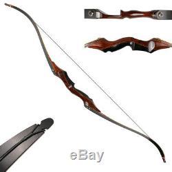 IRQ Archery Takedown Recurve Bow 58,40lbs Hunting Target Longbow RH Wood Riser