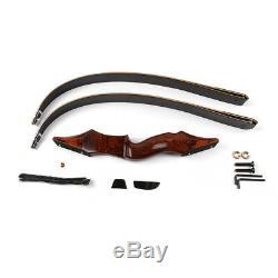 IRQ Archery Takedown Recurve Bow Arrow Rest Hunting Wood Longbow 58,50lb Adult