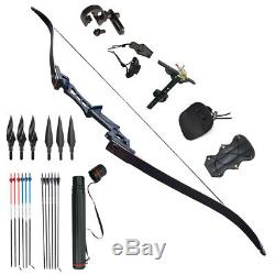 KAIMEI Archery Recurve Bows Takedown Bow Sight Kit Hunting 54'' Right Hand