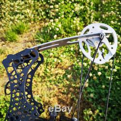 Mini Compound Bow Set 35lbs Sight Right Left Hand Archery Hunting Let Off 80%