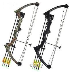 New Aluminum Alloy Camo Pulley Hunting Fish Bow & Arrow Set Bowfishing Outdoor