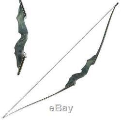 Original Black Hunter Right Hand 60 Longbow Hunting Shooting Bamboo Core Limbs
